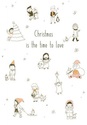 Christmas card christmas is the time to love Jesus is the meaning of Christmas by Eding Illustration
