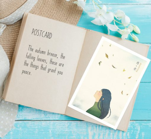postcard- Feel in slow living collection 1 by Eding Illustration