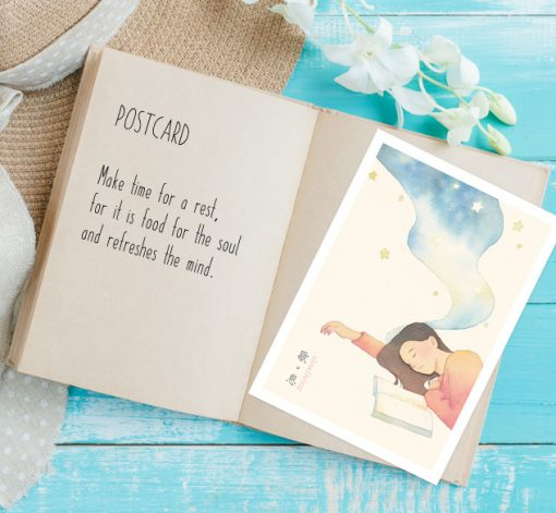postcard- Rest in slow living collection 1 by Eding Illustration