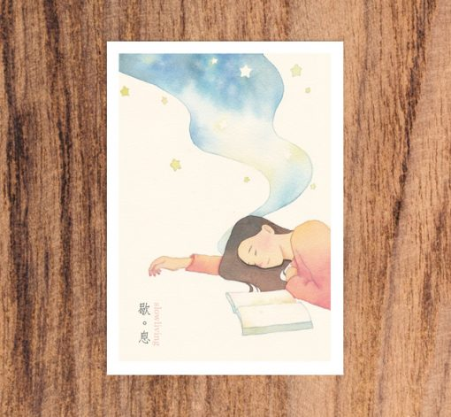 postcard- Rest in slow living collection 2 by Eding Illustration