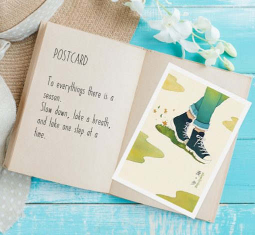 postcard-walk in slow living collection 1 by Eding Illustration