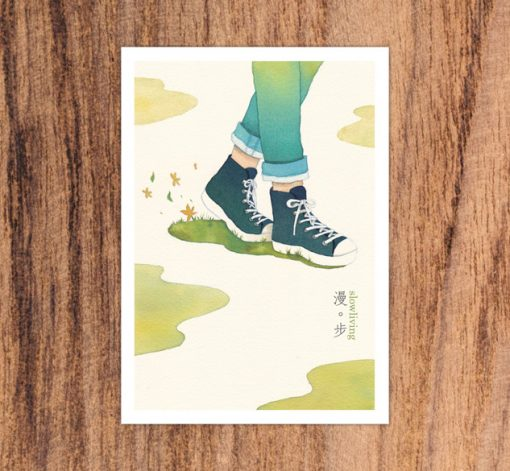 postcard-walk in slow living collection 2 by Eding Illustration