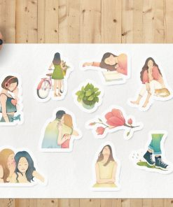 stickers slow living by Eding Illustration