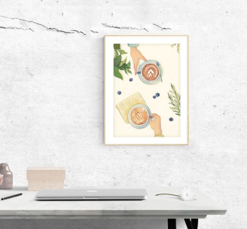 Art Print - taste in slow living collection by Eding Illustration