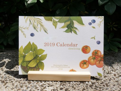 calendar 2019 slow living by Eding Illustration